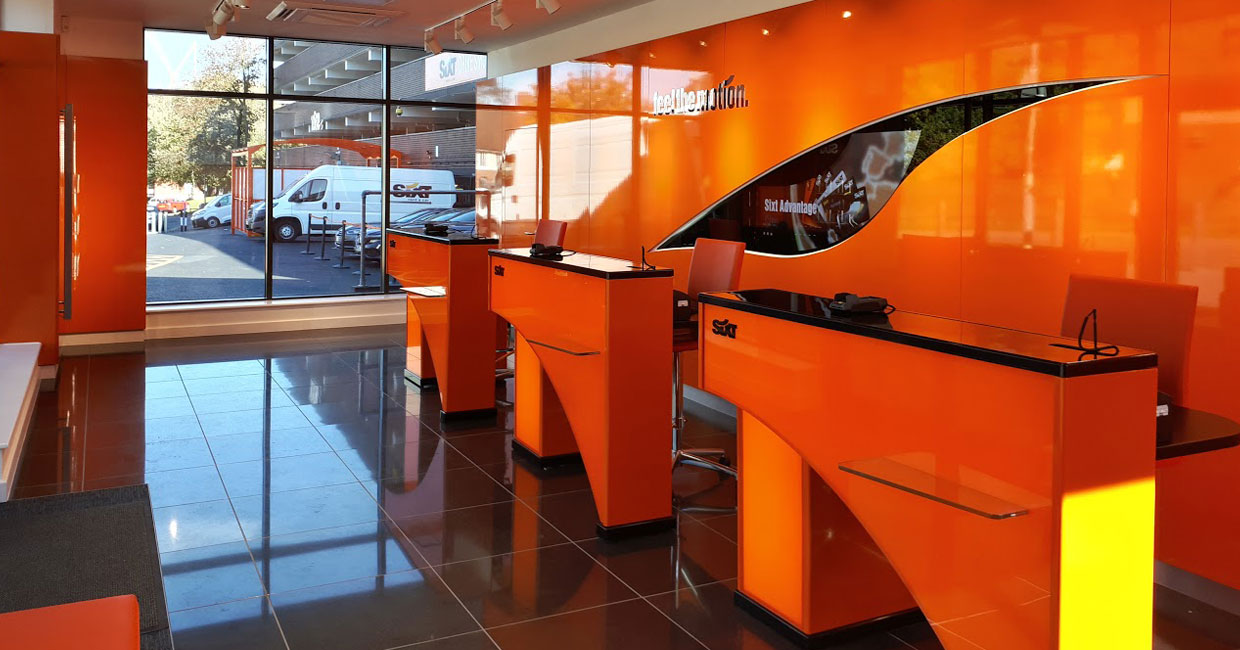 LP Technology SIXT Car Hire Internal shop Fit Out